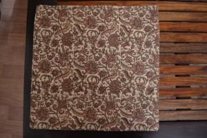 Taie de coussin imprimé par bloc de bois