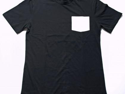 Tshirt 100% coton avec poche en polyester prête pour sublimation.