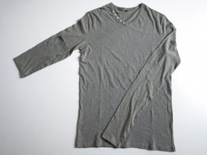 Tshirt col V 100% coton – grande taille.