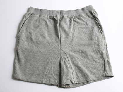 Short gris chiné en molleton 100% coton.